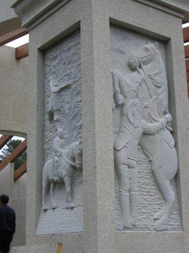 Detalle de columna del pórtico.