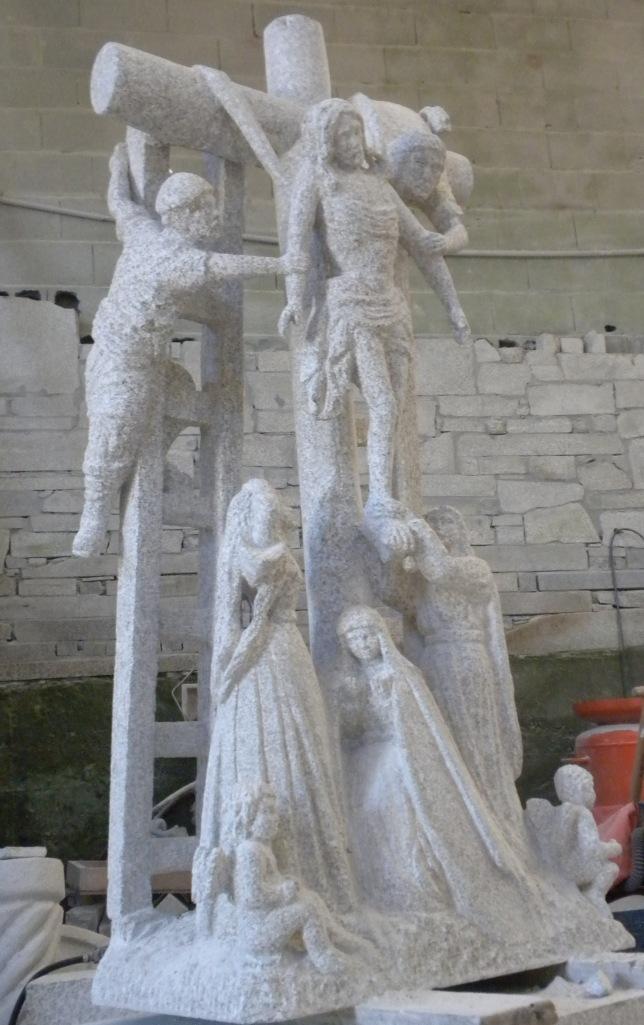 Crucero de Hío en piedra