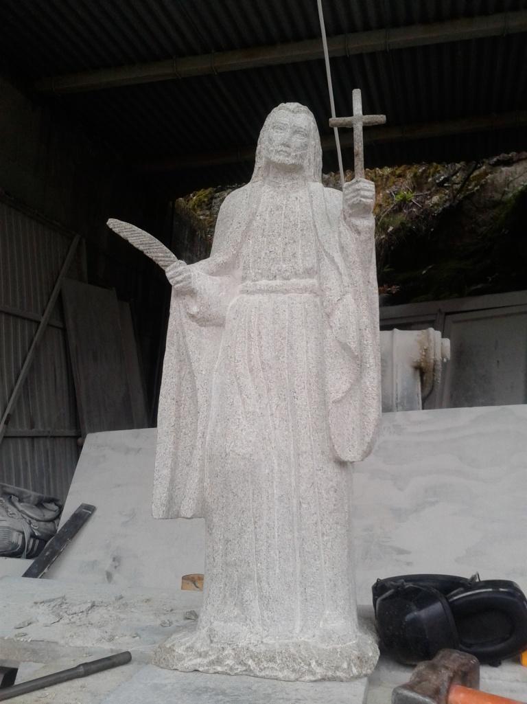 Representación en piedra de San Julián Antince, patrón de Ferrol